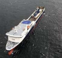 Un ferry que llevaba 335 personas a bordo, tuvo que ser rescatado hoy en Lituania Foto: AFP