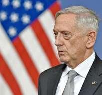 Secretario de Defensa estadounidense, Jim Mattis Foto: AFP