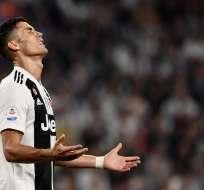TURÍN, Italia.- CR7 durante el partido contra el Napoli el 29 de septiembre del 2018. Foto: AFP