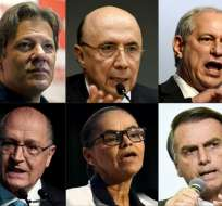 Brasil se prepara para las elecciones el 7 de octubre. Foto: AFP