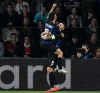 Los italianos han ganado los dos partidos que jugó en Champions League. Foto: JOHN THYS / AFP