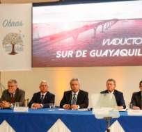 El presidente Moreno indicó que la obra generará 5.700 empleos directos. Foto: @ComunicacionEc