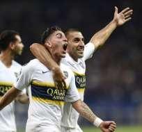 BELO HORIZONTE, Brasil.- Los jugadores de Boca Juniors celebran su clasificación a semifinales. Foto: AFP