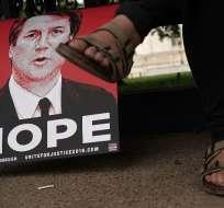 Protestas en Washington contra Brett Kavanaugh Foto: AFP