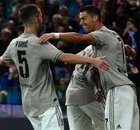 El delantero portugués hizo el segundo tanto en la victoria de Juventus sobre Udinese. Foto: Miguel MEDINA / AFP