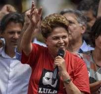 Rousseff llegó al poder en 2010, reelecta en 2014 y destituida por el Congreso en 2016. Foto: AFP.