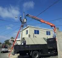 CELEC informó que el suministro de energía se restableció en varias partes del país. Foto: CNEL EP.