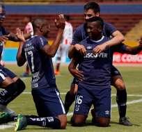 Cifuente anotó su gol número 31 este domingo 7 de octubre, ante Independiente del Valle. Foto: API
