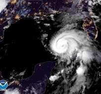 Imagen del satélite Goes-East del huracán Michael. (Captura / NOAA)