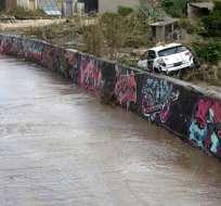 Intensas lluvias en Mallorca provocan fuertes inundaciones Foto: AFP