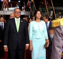 QUITO, Ecuador.- Jorge Glas junto a su esposa, Cinthia Díaz el día del cambio de mando de 2017. Foto: Flickr Vicepresidencia.