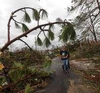 FLORIDA, EE.UU.- El paso de Michael produjo inundaciones en sectores de Carolina del Norte y de Virginia. Foto: AP.