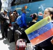 QUITO, Ecuador.- Ciudadanos Venezolanos que retornaran a su paìs gracias al programa de retorno. Foto: Archivo/API.