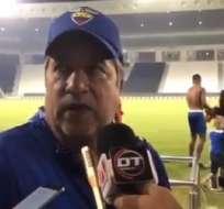 El entrenador de la selección ecuatoriana atribuyó la derrota a la parte física. Foto: Captura de pantalla