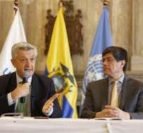 QUITO, Ecuador.- Filippo Grandi se encuentra en un gira para conocer el estado de la migración venezolana. Foto: API.