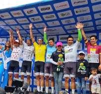 TULCÁN, Ecuador.- El ecuatoriano Byron Guama ganó esta novena etapa de la carrera. Foto: Secretaría del Deporte