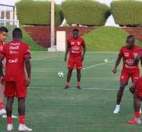 El elenco tricolor durante su entrenamiento luego de la derrota ante Catar. Foto: FEF