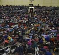 Caravana hondureña en su paso por Guatemala Foto: AFP