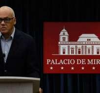 Jorge Rodríguez es considerado el número 3 de Maduro. Foto: AFP