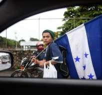 Migrantes hondureños sueñan con llegar a EEUU    Foto: AFP