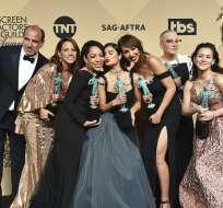 """El elenco de """"Orange Is The New Black"""", en Los Angeles. Foto: AP"""