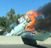 Avioneta de entrenamiento se estrella en California  Foto: Internet