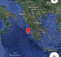 ATENAS, Grecia.-  El terremoto ocurrió a 35 kilómetros al suroeste de la aldea de Lithakia en la isla de Zante. Foto: Twitter.