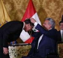 Vizcarra cumple una visita de Estado por los 20 años de la firma de la Paz. Foto: API