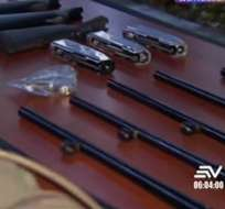 Detectan gran cantidad de armas en el sur de Guayaquil. Foto: captura de video