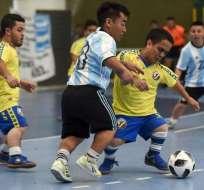 BUENOS AIRES, Argentina.- Las selecciones de Colombia y Argentina se enfrentaron en la jornada inaugural. Foto: AFP