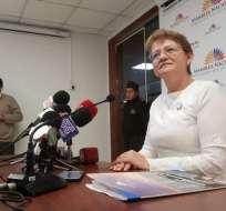 QUITO, Ecuador.- La legisladora de Alianza PAIS se defenderá en la Asamblea e instancias internacionales. Foto: API