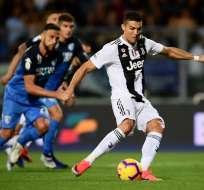 EMPOLI, Italia.- El astro luso alcanzó los siete tantos en la liga italiana. Foto: AFP
