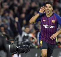 BARCELONA, España.- El delantero confesó la 'satisfacción personal' que tuvo tras anotarle al Madrid. Foto: AFP