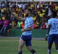 AMBATO, Ecuador.- Pablo Burzio anotó el único gol del partido. Foto: API