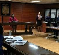 QUITO, Ecuador.- Audiencia de vinculación por delito de peculado en contra de Fernando Alvarado. Foto: Corte Nacional.