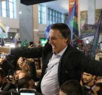 Bolsonaro venció a Fernando Haddad en la segunda vuelta.