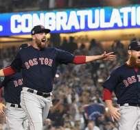 Boston venció 4 partidos a 1 a Los Angeles Dodgers. Foto: Harry How / GETTY IMAGES NORTH AMERICA / AFP