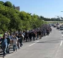 EE.UU.- Actualmente, hay 2.100 efectivos de la Guardia Nacional en la frontera. Foto: AFP