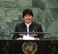 Evo Morales, presidente de Bolivia Foto: AP