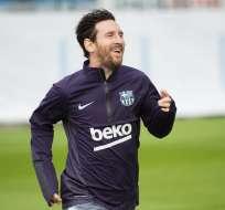 BARCELONA, España.- Messi durante su entrenamiento este miércoles 31 de octubre. Foto: FC Barcelona