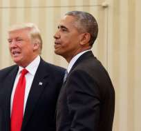 Trump vs Obama, en la recta final de las elecciones legislativas en EEUU. Foto: AP