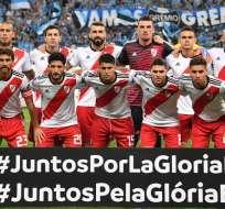 River Plate se clasificó tras vencer 2-1 a Gremio en Porto Alegre. Foto: NELSON ALMEIDA / AFP