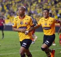 Los 'amarillos' vencieron 3-1 a Aucas en el estadio Monumental de Guayaquil. Foto: API