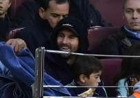 El argentino volvió a entrenar, pero aún no ha recibido el alta médica. Foto: GABRIEL BOUYS / AFP