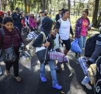MÉXICO.- La caravana partió el 13 de octubre de Honduras huyendo de la violencia y la falta de oportunidades. Foto: AFP