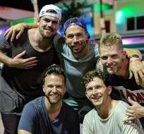 Chad, Ford, Zach, Dustin y Clayton realizan contenido en español para un público latino. Foto: Instagram Los Gringos TV.