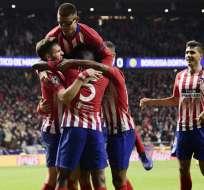 Los 'colchoneros' vencieron 2-0 a los alemanes en España. Foto: JAVIER SORIANO / AFP