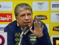 El DT de la selección ecuatoriana dijo que la 'Tricolor' no tiene un buen equipo todavía. Foto: API