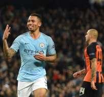 MÁNCHESTER, Reino Unido.- El brasileño Gabriel Jesús anotó un triplete en este partido. Foto: AFP