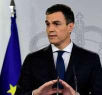 Detenido un hombre por amenazar con asesinar al jefe de gobierno español. Foto: AFP